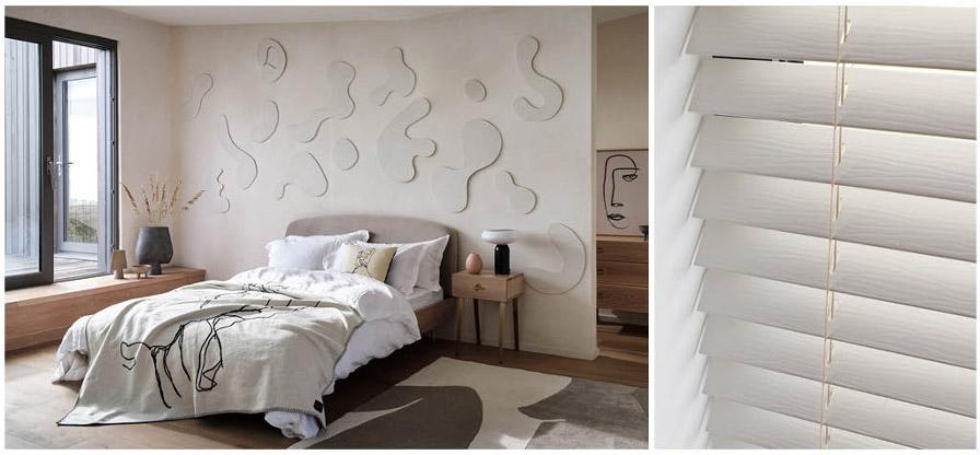 Foto: slaapkamer heals.com, Horizontale Jaloezieën van Luxaflex®